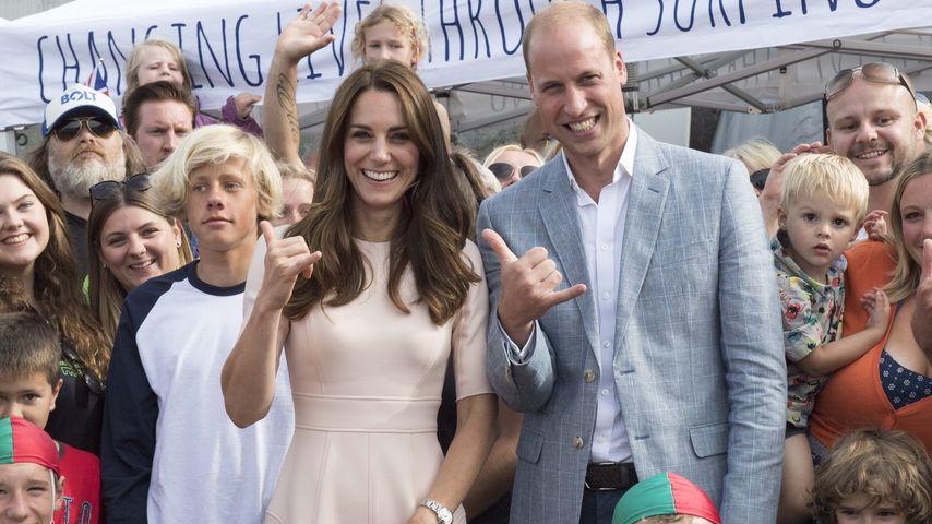 Herzogin Kate und Prinz William beim Besuch eines Benefizprojekts in Newquay