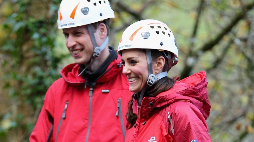 Ungewohnte Herzogin Kate: Lässige Klettertour im Casual-Look