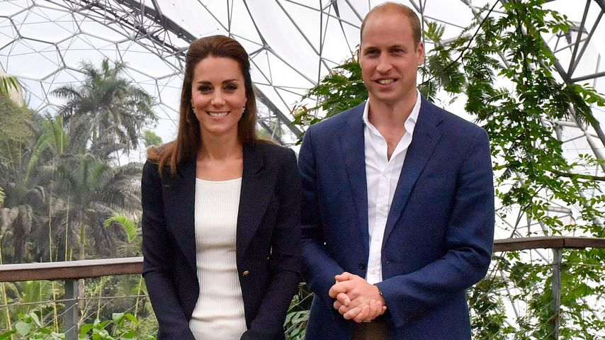 Herzogin Kate und Prinz William in St. Austell, UK beim Eden Project