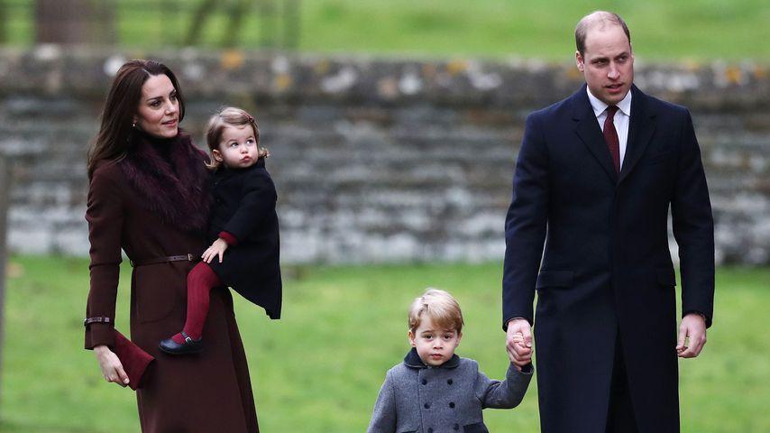 Herzogin Kate und Prinz William mit ihren Kindern Prinz George und Prinzessin Charlotte