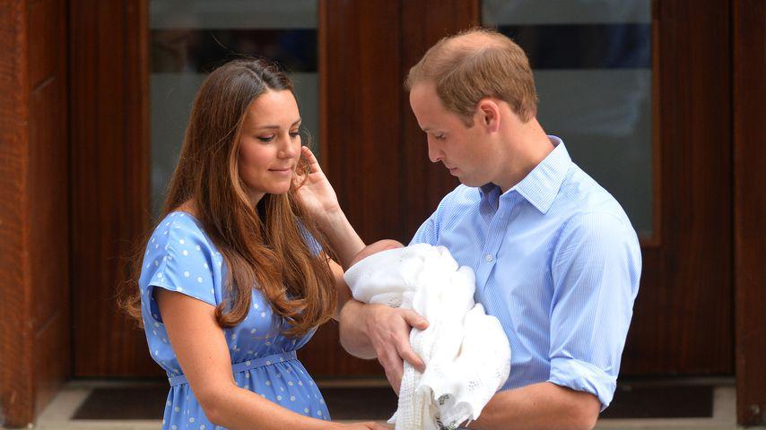 Herzogin Kate und Prinz William nach der Geburt von Prinz George