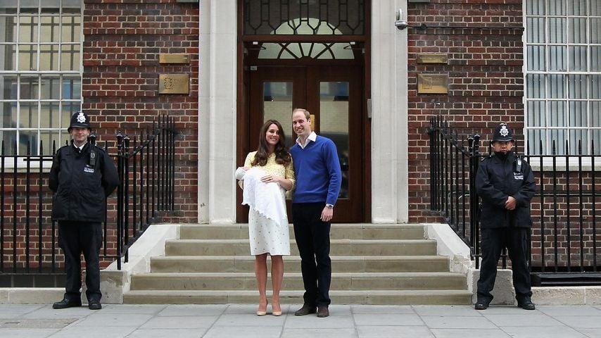 Herzogin Kate und Prinz William mit Prinzessin Charlotte