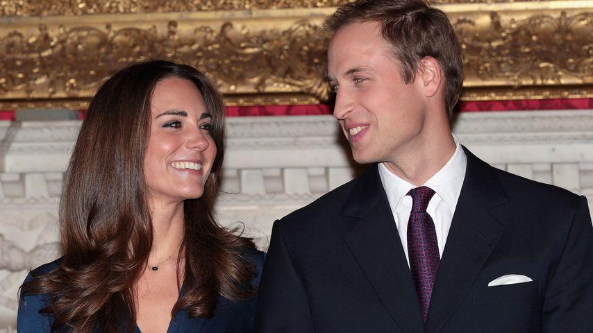 Herzogin Kate und Prinz William bei ihrer Verlobung, November 2010