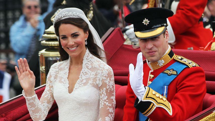 Herzogin Kate und Prinz William an ihrem Hochzeitstag im April 2011 in London