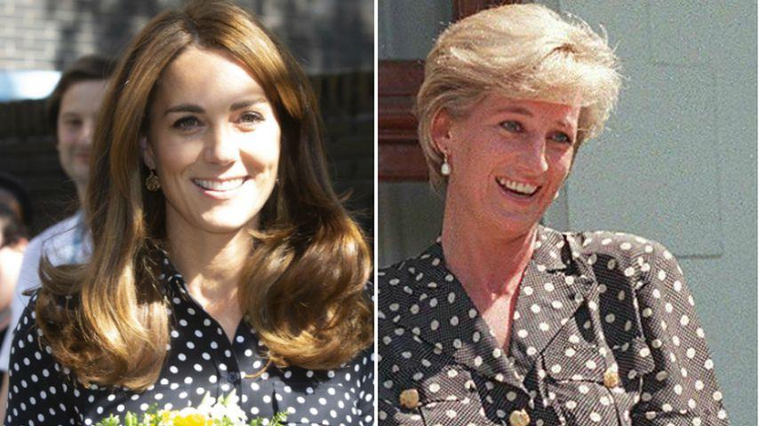 Wurde dieser Look von Herzogin Kate von Lady Di inspiriert?