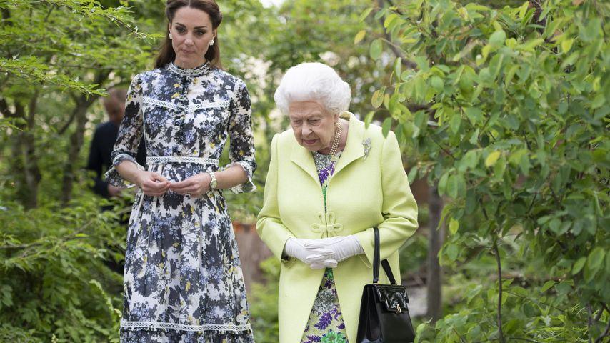 Herzogin Kate und Queen Elizabeth II. 2019 in London