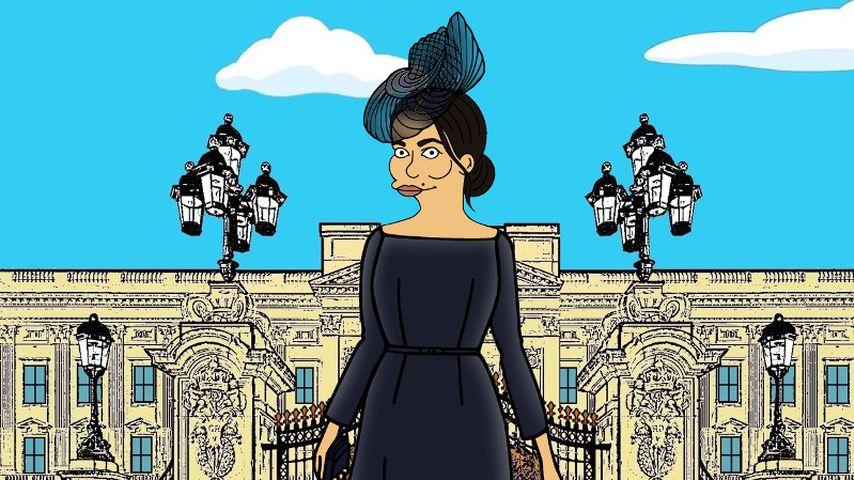 """Herzogin Meghan im Stil von """"Die Simpsons"""""""