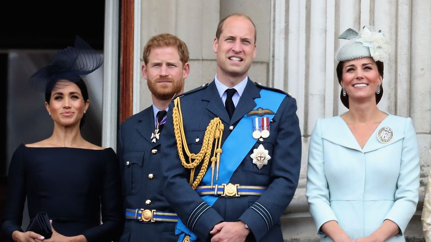 "Herzogin Meghan, Prinz Harry, Prinz William und Herzogin Kate beim ""Trooping the Color"""