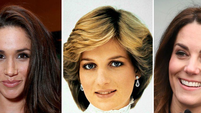 Zufall? Meghan, Diana und Kate verbindet dieser Beauty-Fleck