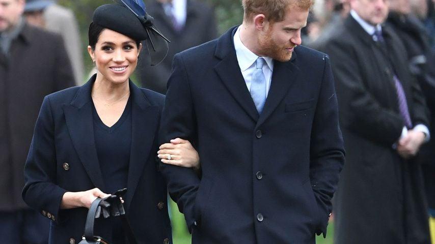 Herzogin Meghan und Prinz Harry in Sandringham im Dezember 2018
