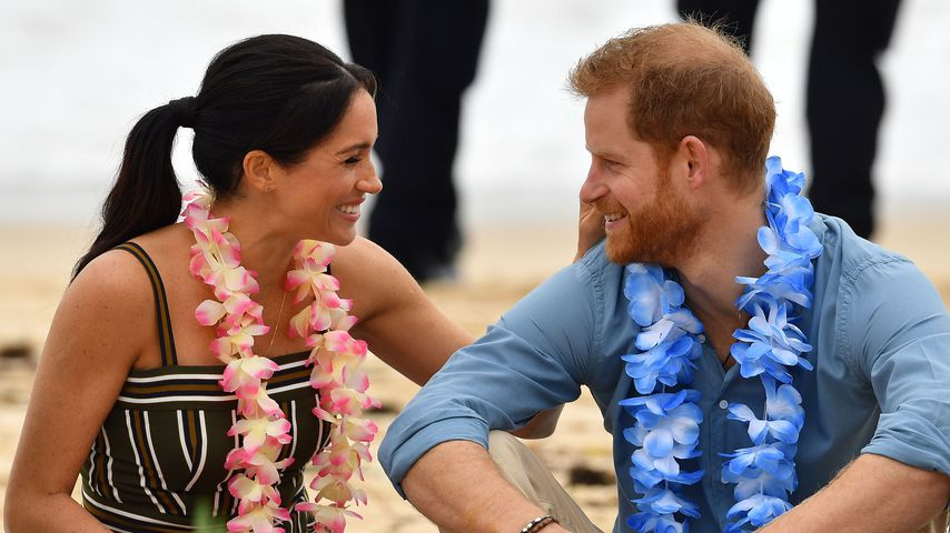Herzogin Meghan und Prinz Harry am Bondi Beach in Sydney
