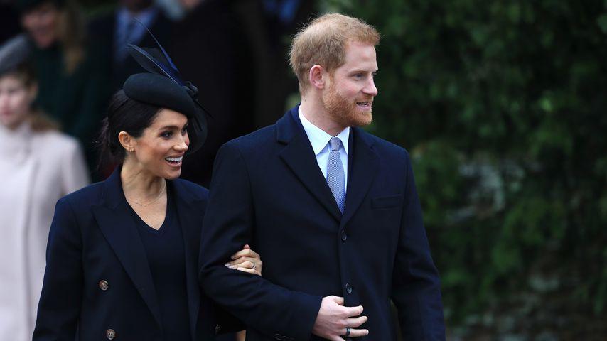 Herzogin Meghan und Prinz Harry im Dezember 2018 in Sandringham