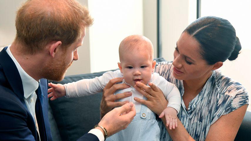 Archie Harrison mit seinen Eltern Prinz Harry und Herzogin Meghan im September 2019