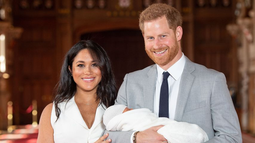 Herzogin Meghan und Prinz Harry mit ihrem Sohn Archie Harrison