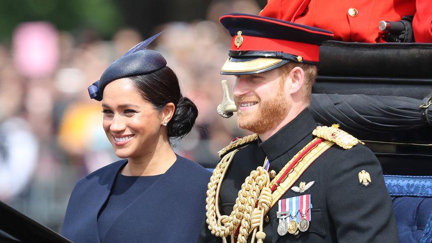 Herzogin Meghan und Prinz Harry bei der Trooping The Colour-Parade