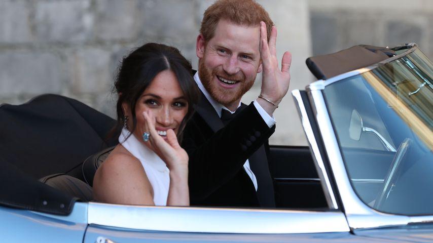 Herzogin Meghan und Prinz Harry vor dem Hochzeitsempfang