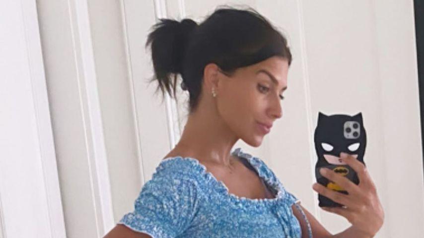 Hilaria Baldwin während ihrer Schwangerschaft im Jahr 2020