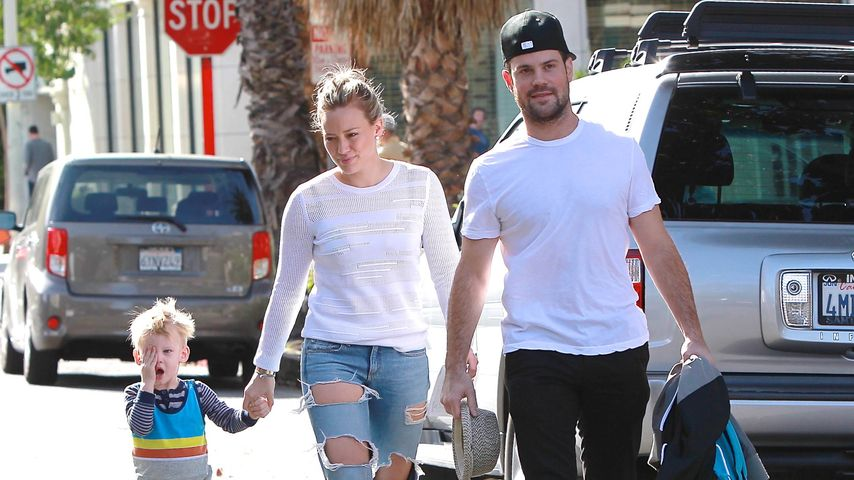 Hilary Duff, Luca Comrie und Mike Comrie im Coldwater Park