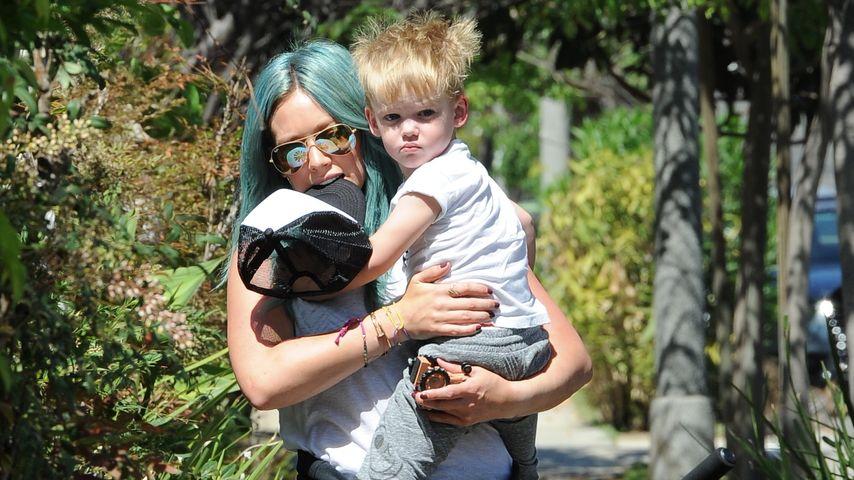 Blaue Haare! Hilary Duffs Sohn verantwortlich für den Look