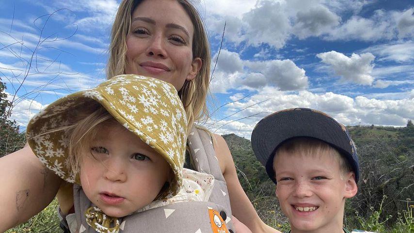 Hilary Duff mit ihren Kindern im März 2020