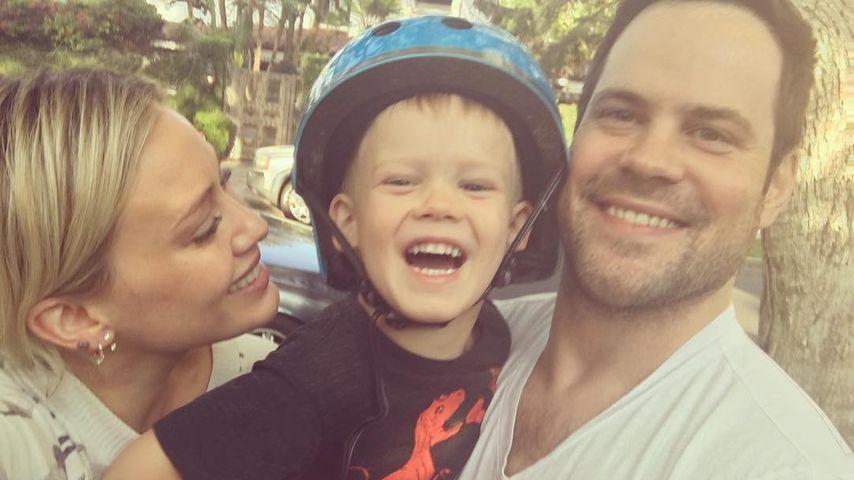 Schauspielerin Hilary Duff mit Sohn Luca und ihrem Ex-Mann Mike Comrie