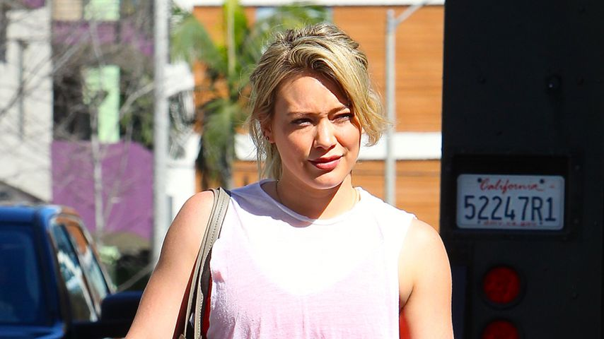Hilary Duff nach einem Workout