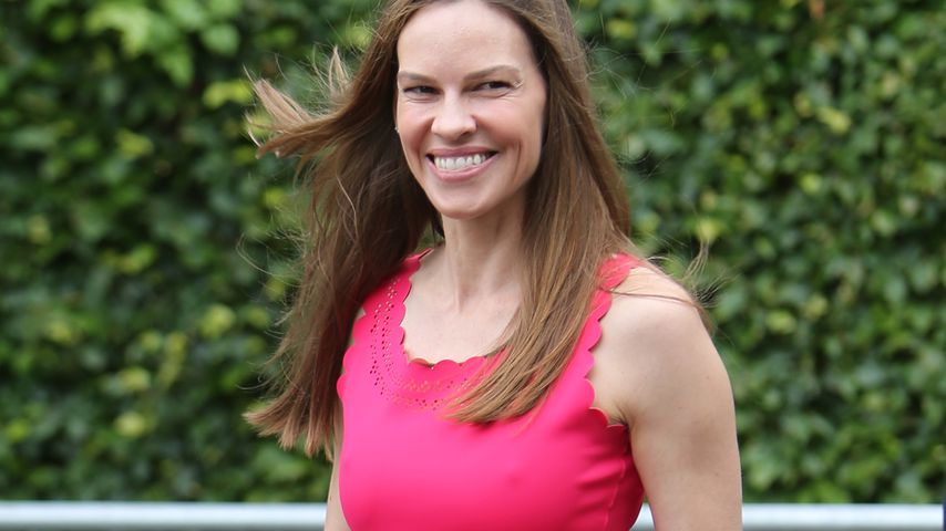 Hilary Swank in Wimbledon 2017