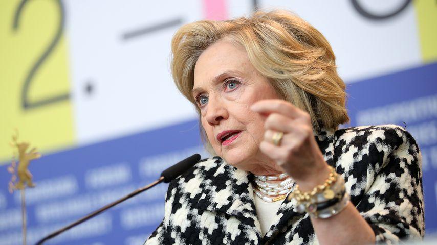Hillary Clinton auf einer Berlinale-Pressekonferenz