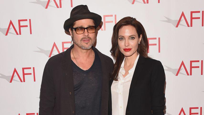 Brad Pitt beim Verlassen von Angelina Jolies Villa gesichtet
