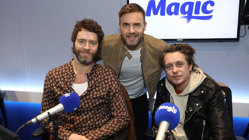 Howard Donald, Gary Barlow und Mark Owen bei Magic Radio