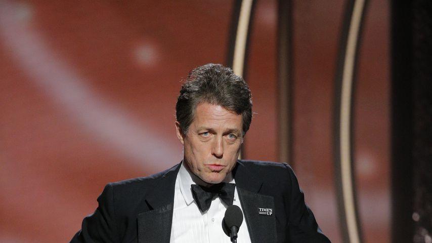 Hugh Grant auf der Bühne der 75. Golden Globe Awards