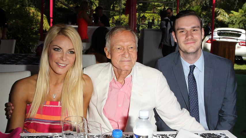 Hugh Hefner mit seiner Frau Crystal und seinem Sohn Cooper