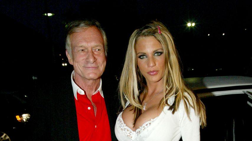 Hugh Hefner und Katie Price im Juli 2002