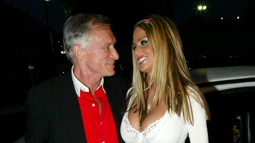 Hugh Hefner und Katie Price in Santa Monica 2002