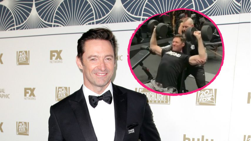 "Hartes Work-out: Pumpt Hugh Jackman hier für ""Wolverine""?"