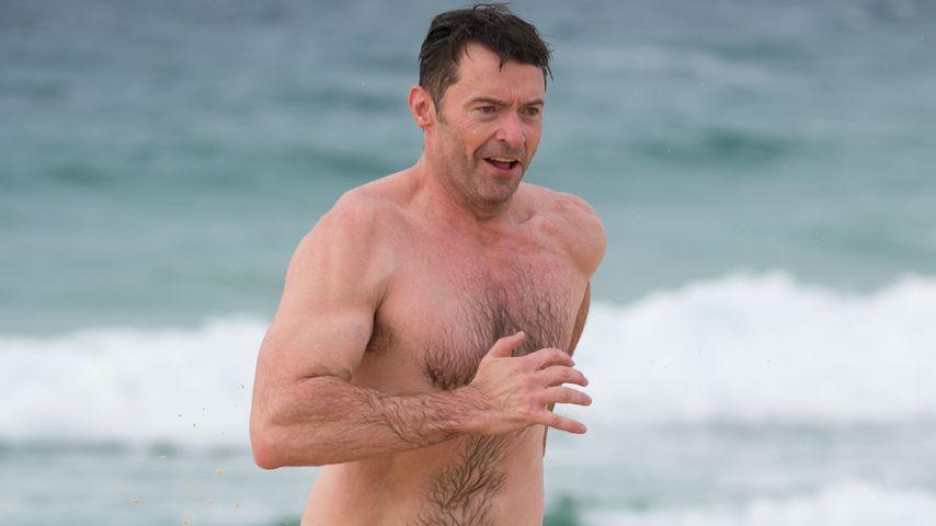 Hugh Jackmann  am Bondi Beach in Sydney