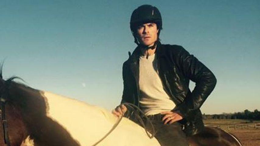 Tierischer Lieblingsort: Ian Somerhalder hoch zu Ross