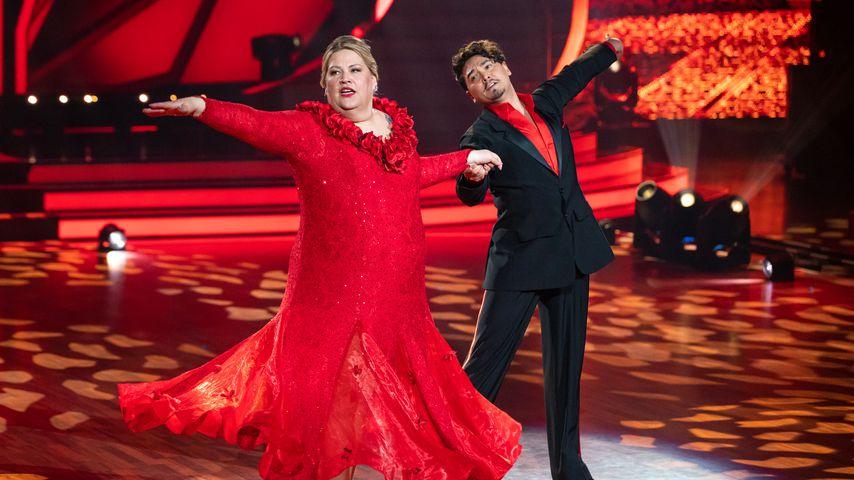 """Ilka Bessin und Erich Klann bei der ersten """"Let's Dance""""-Liveshow, Februar 2020"""