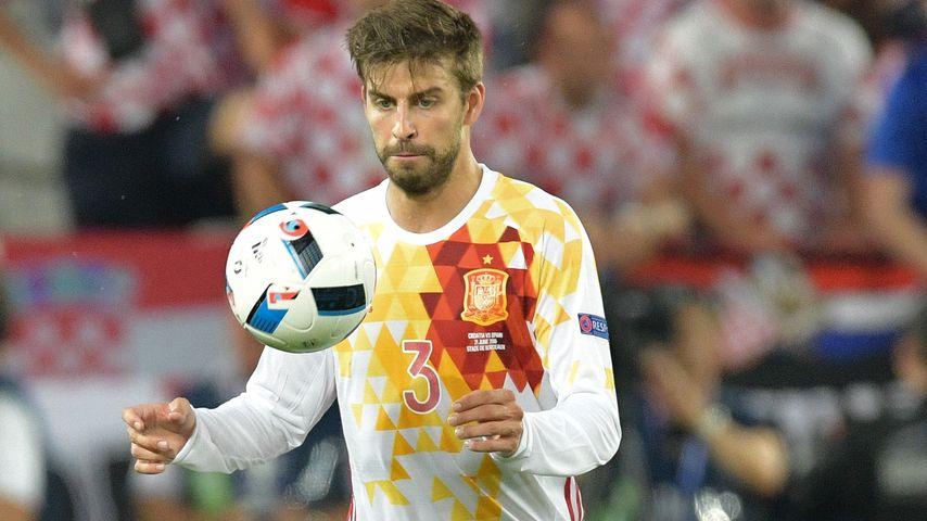 Im Auswärtstrikot: Gerard Piqué beim EM-Match Spanien gegen Kroatien