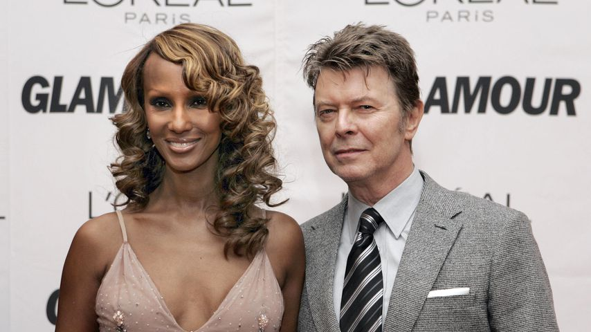 Iman Abdulmajid und David Bowie in New York, 2006