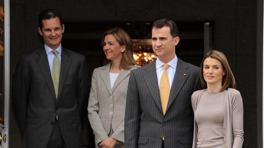 Inaki Urdangarin, Infantin Cristina, König Felipe und Königin Letizia