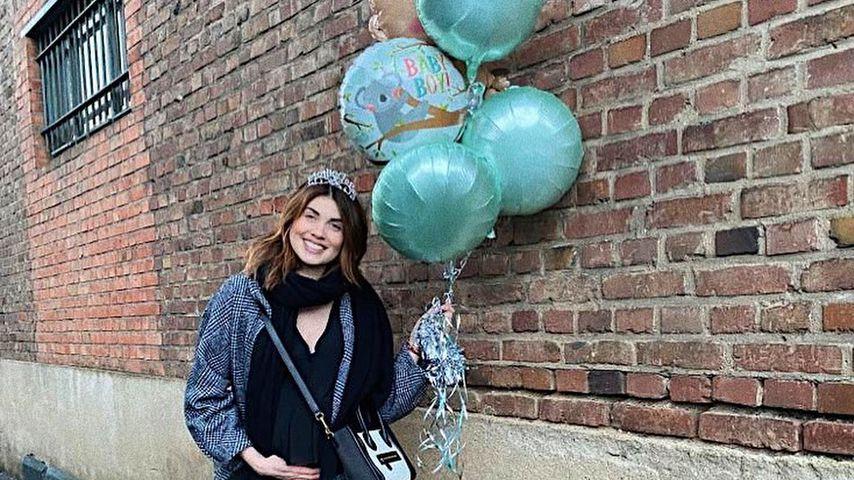 Ira Meindl bei ihrer Baby-Party