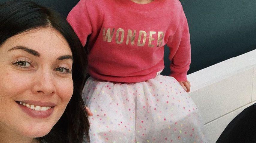 Ex-GNTM-Teilnehmerin Ira Meindl mit ihrer Tochter
