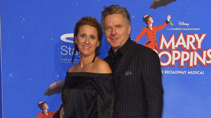 """Irina und Jörg Pilawa auf der Musical-Premiere von """"Mary Poppins"""""""