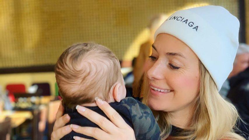 Iris Aschenbrenner und ihr Sohn, Januar 2020