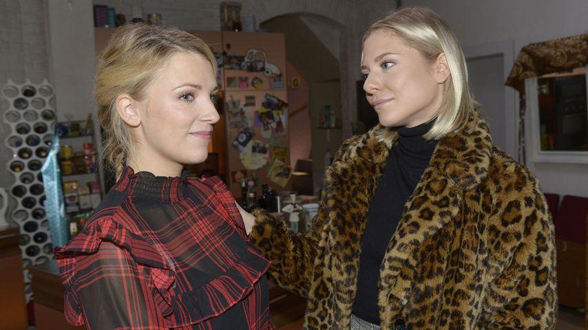 Iris Mareike Steen und Valentina Pahde am Set von GZSZ im Februar 2020