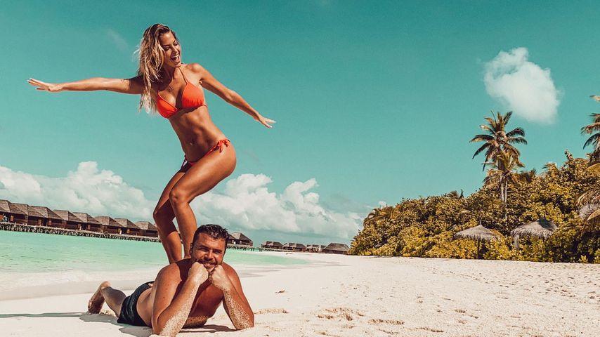 Isabel Gülck und ihr Mann Carlos Lucio in den Flitterwochen