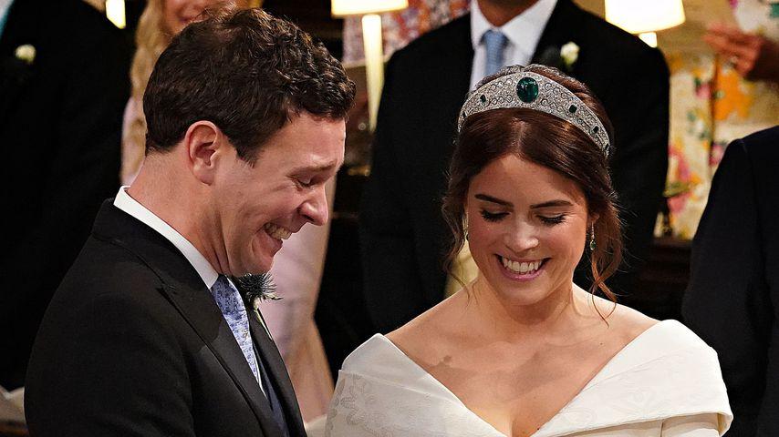 Jack Brooksbank und Prinzessin Eugenie auf ihrer Hochzeit im Oktober 2018