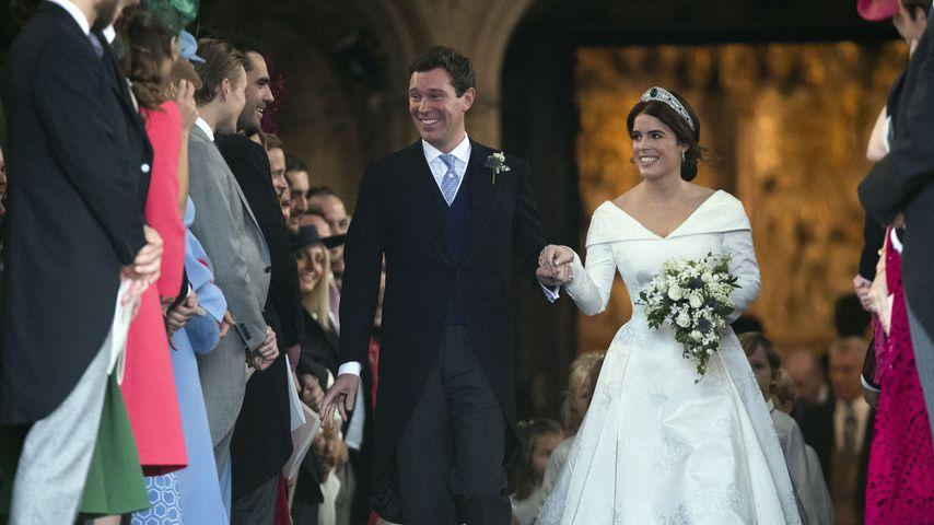 Jack Brooksbank und Prinzessin Eugenie bei ihrer Hochzeit in London
