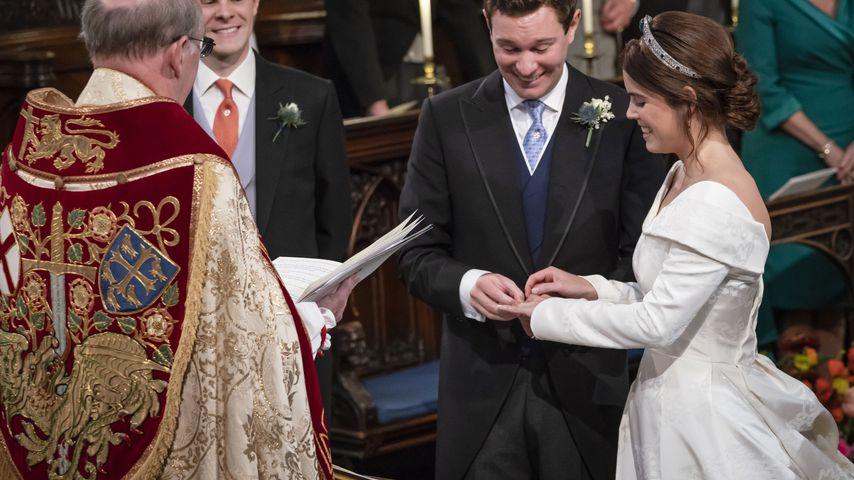 Jack Brooksbank und Prinzessin Eugenie in der St. George's Chapel